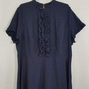 Eloquii Ruffle Bodice + Sleeve Career Dress (EM04)